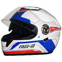 FREE-M FF-913 FULLFACE MOTOSÝKLET KASKI WHITE-BLUE