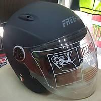 FREE-M- FF 601 MAT SÝYAH YARIM CAMLI MOTOSÝKLET KASKI