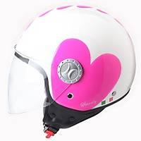Sway 701 Open Face Ýtalyan Stil Kalpli Beyaz Kask