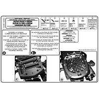 GIVI E528M SUZUKI DL 650-1000 V-STROM (02-11) - KAWASAKI KLV 1000 (04-10) ARKA ÇANTA TAÞIYICI