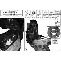 GIVI SR91M KYMCO XCITING R 300I-500I (09-14) ARKA ÇANTA TAÞIYICI