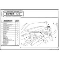 KAPPA K6350 BMW R 850 R - R 1100 R (95-02) ARKA ÇANTA TAÞIYICI