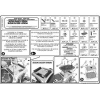 KAPPA K528 SUZUKI DL 650-1000 V-STROM (02-11) - KAWASAKI KLV 1000 (04-10) ARKA ÇANTA TAÞIYICI