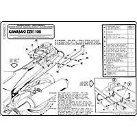 GIVI 422F KAWASAKI ZZR 1100 (93-01) ARKA ÇANTA TAÞIYICI