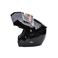 Sway 920 Çene Açýlýr Parlak Siyah Kask 2020 Üretim Siyah cam