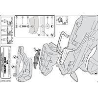 GIVI SR6401 TRIUMPH TIGER 800 - 800XC (11-19) ARKA ÇANTA TAÞIYICI