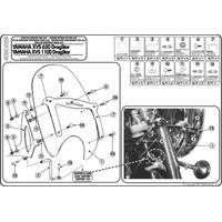 GIVI AS102A2 YAMAHA XVS 650-1100 DRAGSTAR CLASSIC RÜZGAR SIPERLIK BAGLANTISI