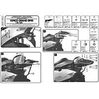 GIVI SR87M KYMCO GRAND DINK 125-150-250 (00-07) ARKA ÇANTA TAÞIYICI