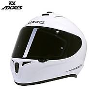 AXXIS DRAKEN SOLID GLOSS PEARL WHITE FULL FACE KAPALI KASK
