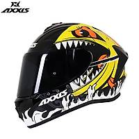 AXXIS DRAKEN VIPERFISH GLOSS FLOUR ORANGE   FULL FACE KAPALI KASK
