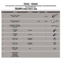 GIVI TE6402 TRIUMPH SPEED TRIPLE 1050 (11-15) YAN KUMAÞ ÇANTA TAÞIYICI