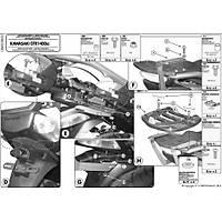 GIVI SR410 KAWASAKI GTR 1400 (07-15) ARKA ÇANTA TAÞIYICI
