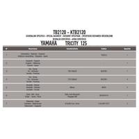 GIVI TB2120 YAMAHA TRICITY 125-155 (14-20) SISSYBAR