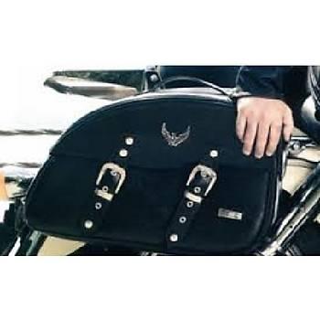 Tex 92 XL Motosiklet Chooper (Çapýr) Deri Heybe Yan Çanta Tk