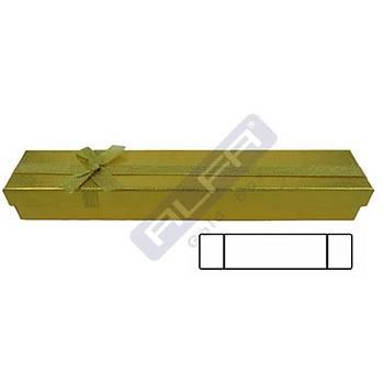 Bileklik Kutusu - Karton Altýn Fiyoklu