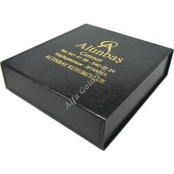 Karton Siyah Dikiþli Set Kutusu