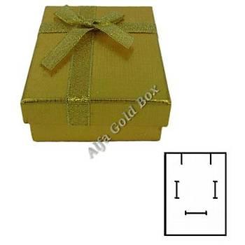 Üçlü Set Kutusu - Karton Altýn Fiyoklu