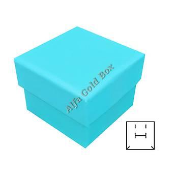 Battal Yüzük & Küpe Kutusu - Karton Kamelya Seri