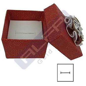 Karton Çiçekli Yüzük Kutusu