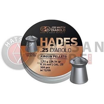 JSB Diabolo Hades 6,35 mm Havalý Tüfek Saçmasý (26,54 Grain - 300 Adet)