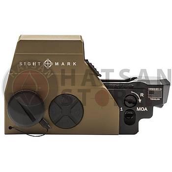 Sightmark Ultra Shot M-Spec FMS Reflex Sight Weaver Hedef Noktalayýcý Red Dot Sight (FDE)