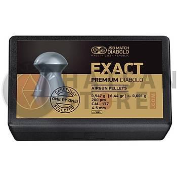 JSB Diabolo Exact Premium 4,52 mm Havalý Tüfek Saçmasý (8,44 Grain - 200 Adet)