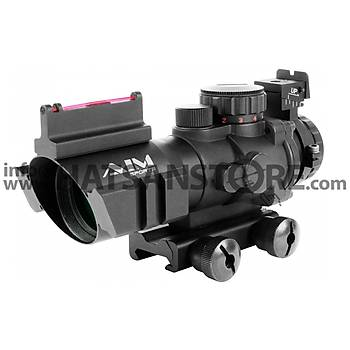 Aimsports Tactical 4x32 RGB Hedef Noktalayýcý 22 mm Red Dot Sight