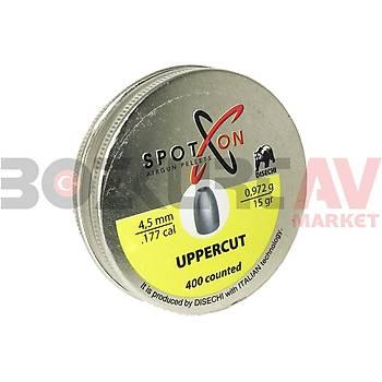 Spot On Uppercut 4,5 mm Havalý Tüfek Saçmasý (15 Grain - 400 Adet)