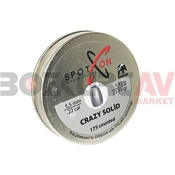 Spot On Crazy Solid 5,5 mm Havalý Tüfek Saçmasý (21,91 Grain - 175 Adet)