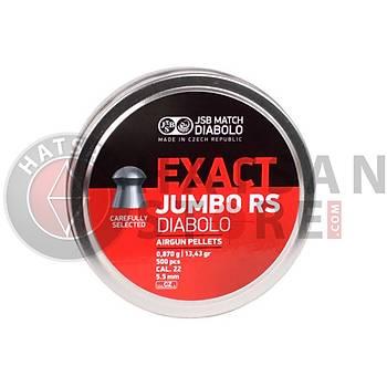 JSB Diabolo Exact Jumbo RS 5,52 mm Havalý Tüfek Saçmasý (13,43 Grain - 500 Adet)