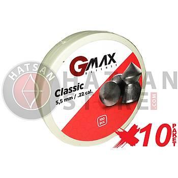 GMax Defense Classic 5,5 mm 10 Paket Havalý Tüfek Saçmasý (1000 Adet)