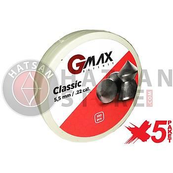 GMax Defense Classic 5,5 mm 5 Paket Havalý Tüfek Saçmasý (500 Adet)
