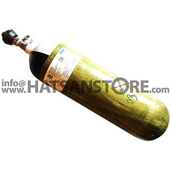 Draeger 6,8 Litre CFK 300 BAR Karbon Fiber Scuba Tüp