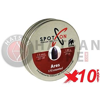 Spot On Ares 5,5 mm 10 Paket Havalý Tüfek Saçmasý (29 Grain - 1750 Adet)