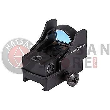 Sightmark Mini Shot Pro-Spec Reflex Sight Weaver Hedef Noktalayýcý Red Dot Sight (Green Dot)