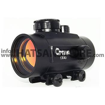 Optima 1x40 Hedef Noktalayýcý 22 mm Red-Dot Sight