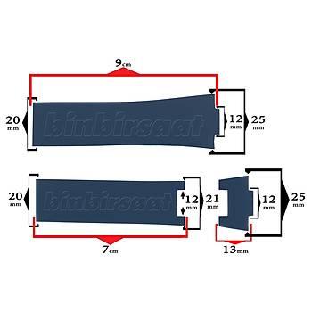 S27-59 Ulysse Nardin Uyumlu Silikon Saat Kordonu 25 mm 3 Renk Seçenekli