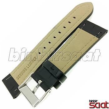Hakiki Deri Saat Kordonu BBS-SB4 24mm 2 Renk Seçenek