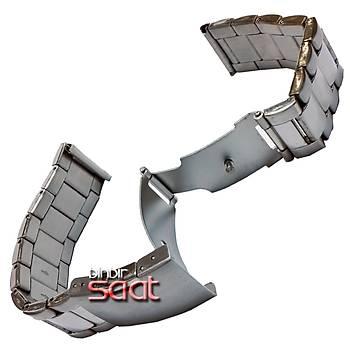 M24-M7 Paslanmaz Çelik Saat Kordonu 3 Katlamalý Emniyetli Klips 18-20-22-24mm