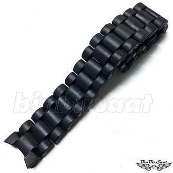 KV2020M-1 Siyah Plastik Saat Kordonu 20 mm Kavisli
