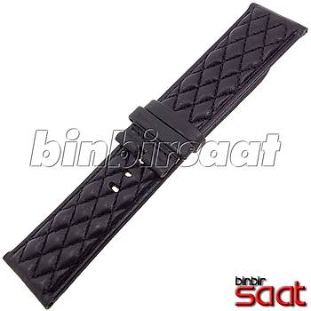 INV-266-1 INVICTA UYUMLU 26 mm Hakiki Deri Siyah Saat Kordonu Invicta S1 Rally Modeli Muadili