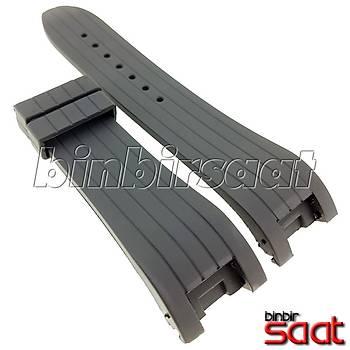 PU02-D Siyah Silikon Saat Kordonu 24mm