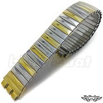 SWC1617M-005 Swatch Uyumlu Yaylý Çelik  16mm Kasa Giriþi 17,5cm Uzunluk