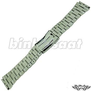 TRK2220M-1B Paslanmaz Çelik Saat Kordonu 22mm Kasa Giriþi