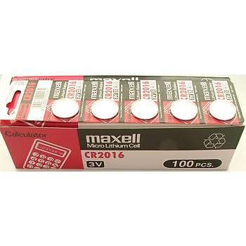 Maxell CR2016 Lithium 5 li Pil