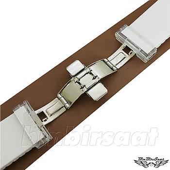 O.D.M Orijinal Silikon Saat Kordonu 28mm Beyaz
