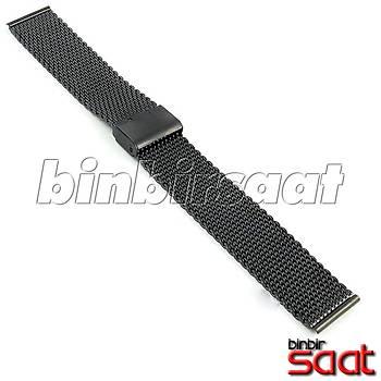 HSR-01 Kalýn Hasýr Çelik Saat Kordonu - Siyah - 18-20-22-24 mm