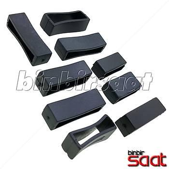 Saat Kordon Köprüleri 12-14-16-18-20-22-24 mm Silikon Siyah