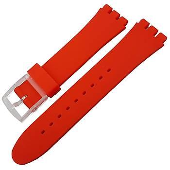 Swatch Uyumlu 21mm Silikon Saat Kordonu 8 Renk Seçenek