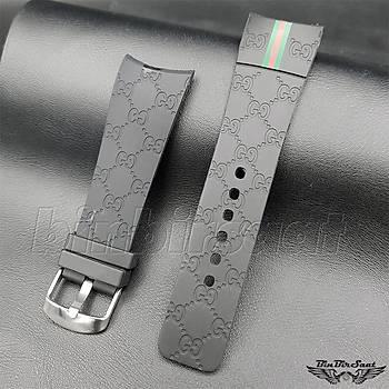 Gucci Uyumlu Silikon Saat Kordonu 26 mm